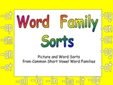 Kindergarten Word Family Sorts- Word Work Independent Practice