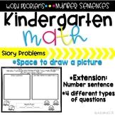 Kindergarten Word Problem Pack #1