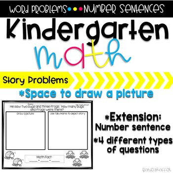 Kindergarten Word Problem Pack #1
