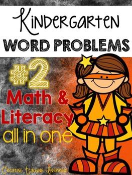 Kindergarten Word Problem Pack #2