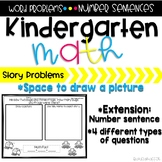 Kindergarten Word Problems (Set 1)