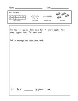 Kindergarten Word Problems