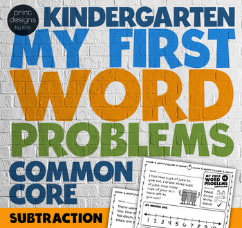 Kindergarten Word Problems Common Core • My First Word Pro