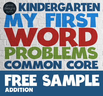 Kindergarten Word Problems Common Core Standard - My First