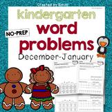 Kindergarten Word Problems [December-January]
