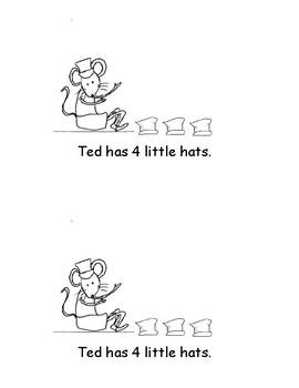 Kindergarten Word Problems Mini Book: Addition: Hats: K.OA.2  RDW