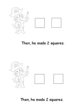 Kindergarten Word Problems Mini Book: Addition: Stinky's Shapes: K.OA.2  RDW