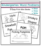 Kindergarten Word Problems Mini Books: Addition and Subtraction: 5 Books  RDW