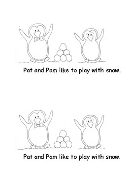 Kindergarten Word Problems Mini Book:  Addition Book: Snowball Fun: RDW:  K.OA.2