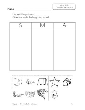 Kindergarten Word Study Worksheets & Teaching Resources | TpT