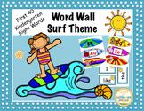 Kindergarten D'Nealian Font Word Wall 1st 40 Sight Words Surf Theme