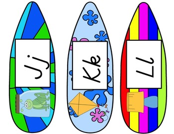 Kindergarten D'Nealian Font Word Wall 1st 40 Sight Words Surf Theme