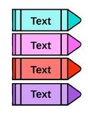 Kindergarten Word Wall - Blank Editable Crayons