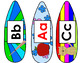 Kindergarten Word Wall First 40 Sight Words Surf Theme: Su