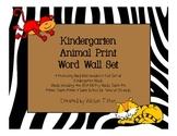 Kindergarten Word Wall Set: Animal Print