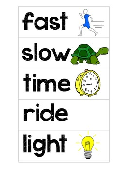 Kindergarten Word Wall (Visual Cards)
