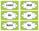 Kindergarten Word Wall Word Set Lime Green
