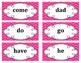 Kindergarten Word Wall Word Set Pink