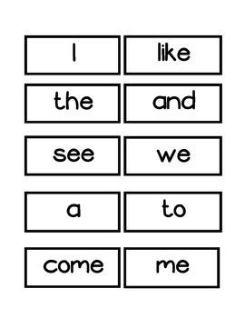 Kindergarten Word Wall Word Cards (aligned with Journeys)