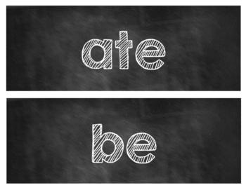 Kindergarten Word Wall Words [Chalkboard Style]