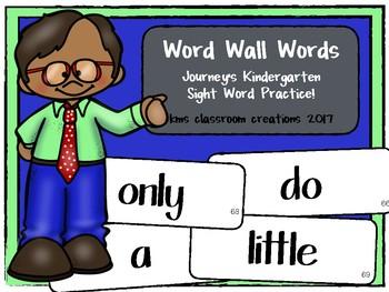 Kindergarten Word Wall Words (Journey's Sight Word Cards)