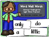 Kindergarten Word Wall Words (Journey's Sight Word Cards)