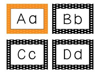 Kindergarten Word Wall Words Polka dot Themed