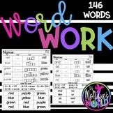Kindergarten Word Work (146 WORDS)