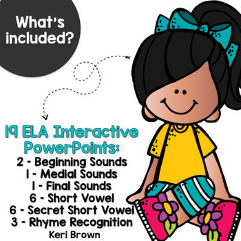 Kindergarten Word Work Interactive PowerPoint Bundle - See it. Write it.
