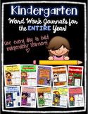 Kindergarten Word Work Journals - All Year!