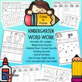 Kindergarten Word Work Pack