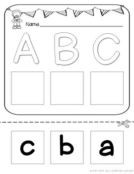 Letter Matching Cut and Paste Printables