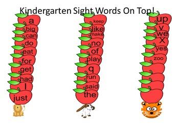 Kindergarten Words Up On Top!
