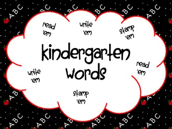 Kindergarten Words - read, stamp, and write them