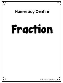 Kindergarten Worksheet on Fraction (Halves)