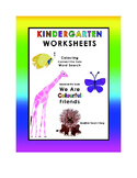 Kindergarten Worksheets--Colouring, Connect the Dots & Wor
