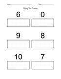 Kindergarten Worksheets- Counting & Addition w/ Ten Frames
