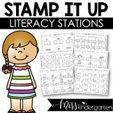 Kindergarten Worksheets Literacy Stations