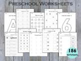 160 - Kindergarten Worksheets, Preschool Worksheets (Engli
