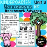 Kindergarten Worksheets (Unit 3) for Benchmark Advance