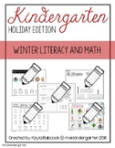 Kindergarten Worksheets - Winter Themed