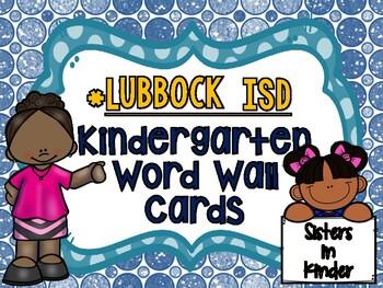 Kindergarten World Wall - Lubbock ISD Edition!