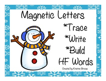 Kindergarten Write and Build High Frequency Words with Magnetic Letters