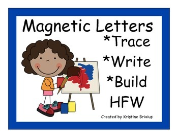 Kindergarten Write and Build Words with Magnetic Letters Kids Theme