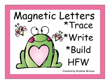 Kindergarten Write and Build Words with Magnetic LettersTu