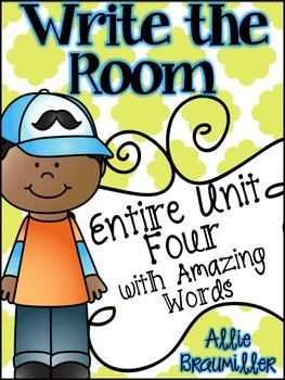 Kindergarten Write the Room: Amazing Words Entire Unit Four of Reading Street