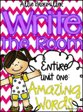 Kindergarten Write the Room: Amazing Words Entire Unit One of Reading Street