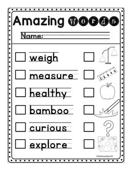 Kindergarten Write the Room: Amazing Words Entire Unit Three of Reading Street