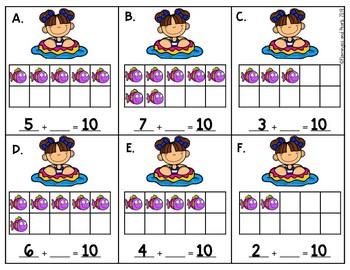 Math Centers Write the Room Kindergarten May