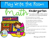 Math Centers Write the Room Kindergarten May